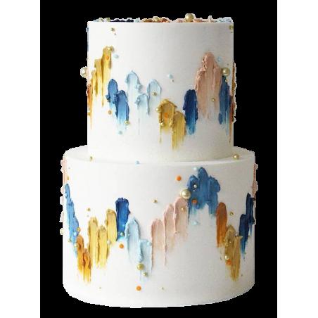 Tort piętrowy w dwóch smakach